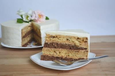 Karamelės-Šokolado tortas